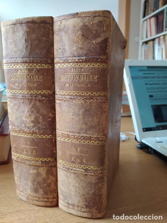 DICTIONNAIRE GENERAL DE LA POLITIQUE. BLOCK MAURICE. PARIS, ED. LORENZ 1880 RARE (Libros Antiguos, Raros y Curiosos - Pensamiento - Política)