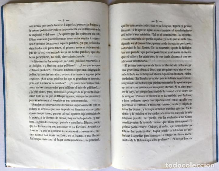 Libros antiguos: REPRESENTACION HECHA Á LAS CORTES CONSTITUYENTES, CONTRA LA BASE SEGUNDA DEL PROYECTO DE... - Foto 3 - 246880195