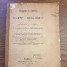 Libros antiguos: TRATADOS DE POLÍTICA. RESÚMENES Y JUICIOS CRÍTICOS POR GUMERSINDO DE AZCÁRATE. MADRID, 1883. Lote 248193160