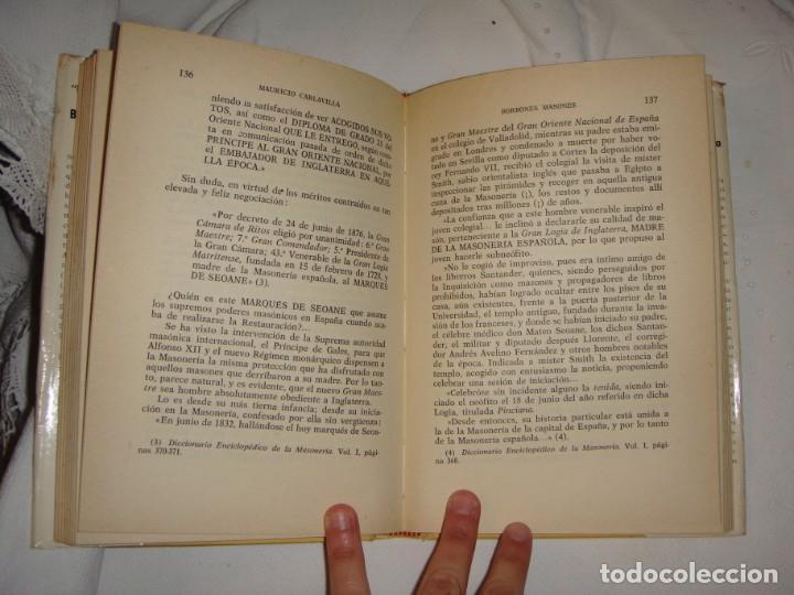 Libros antiguos: Borbones Masones desde Fernando VII hasta Alfonso XIII. Carlavilla, Mauricio. 1967 - Foto 3 - 248592815