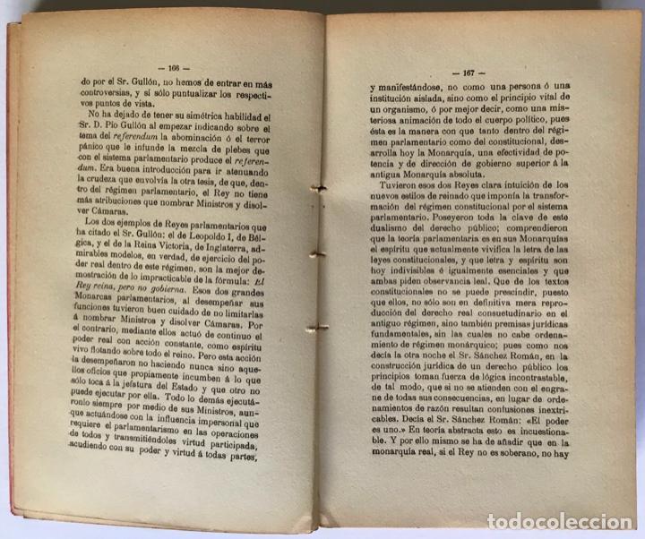 Libros antiguos: LA CRISIS DE NUESTRO PARLAMENTARISMO. - SÁNCHEZ DE TOCA, Joaquín. - Foto 3 - 249494420