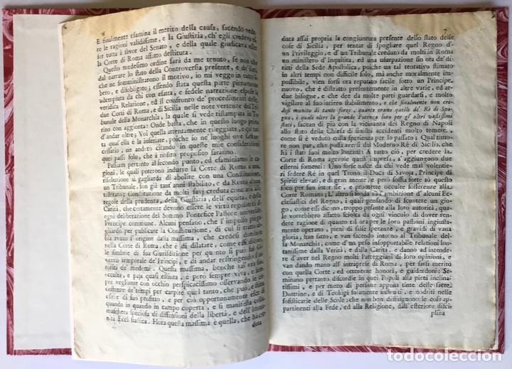 Libros antiguos: LETTERA DI N.N. AL SIGNOR MARCHESE N.N. SOVRA LE NOTE VERTENZE TRA LE DUE CORTI DI ROMA, E DI... - Foto 2 - 251146410