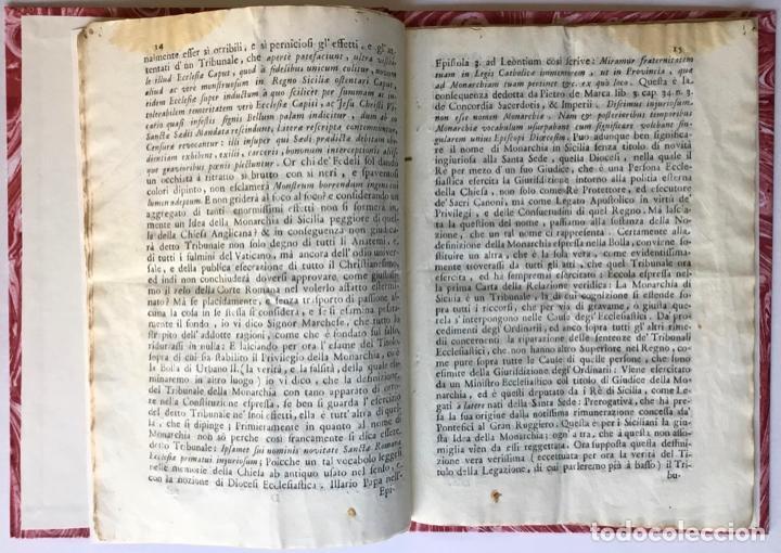 Libros antiguos: LETTERA DI N.N. AL SIGNOR MARCHESE N.N. SOVRA LE NOTE VERTENZE TRA LE DUE CORTI DI ROMA, E DI... - Foto 3 - 251146410