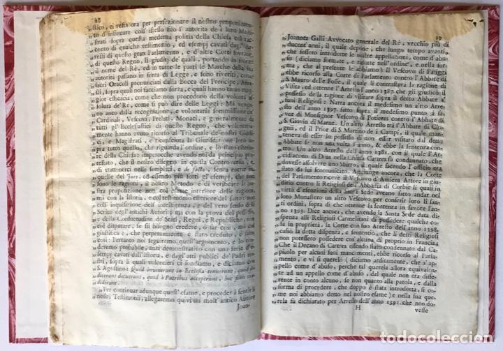Libros antiguos: LETTERA DI N.N. AL SIGNOR MARCHESE N.N. SOVRA LE NOTE VERTENZE TRA LE DUE CORTI DI ROMA, E DI... - Foto 4 - 251146410