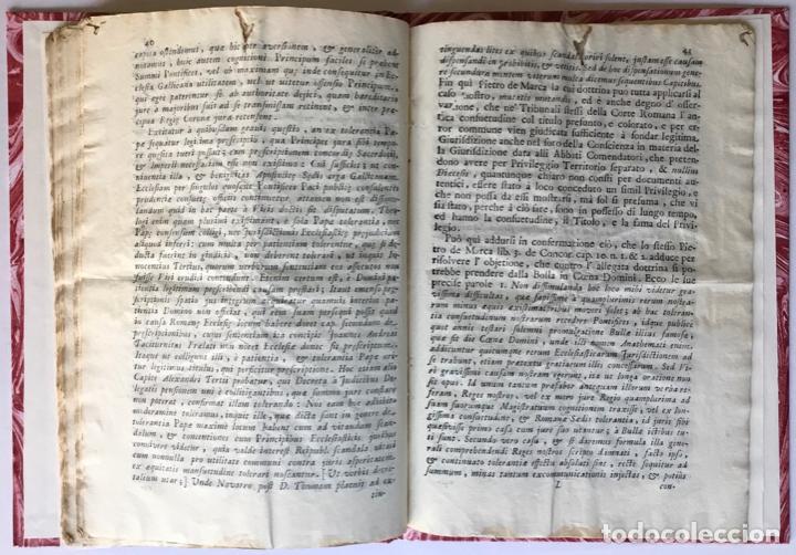 Libros antiguos: LETTERA DI N.N. AL SIGNOR MARCHESE N.N. SOVRA LE NOTE VERTENZE TRA LE DUE CORTI DI ROMA, E DI... - Foto 5 - 251146410