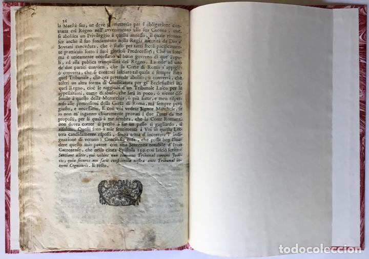 Libros antiguos: LETTERA DI N.N. AL SIGNOR MARCHESE N.N. SOVRA LE NOTE VERTENZE TRA LE DUE CORTI DI ROMA, E DI... - Foto 6 - 251146410