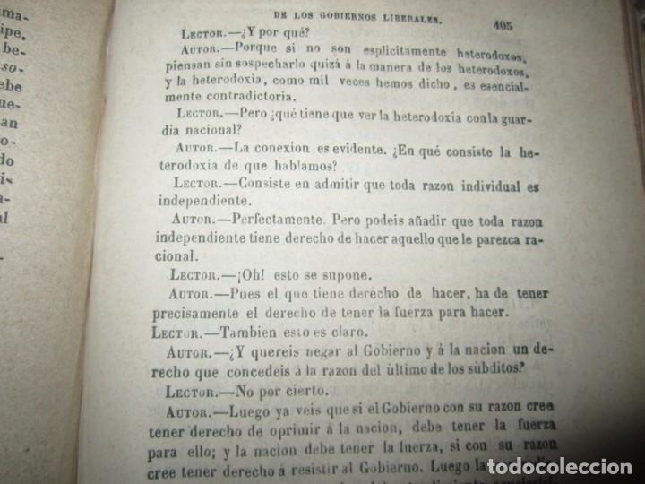 Libros antiguos: EXAMEN CRITICO DEL GOBIERNO REPRESENTATIVO LUIS TAPARELLI 1867 MADRID TOMO II - Foto 9 - 251592400