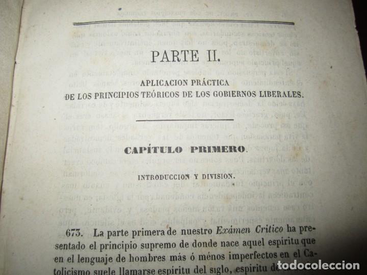 Libros antiguos: EXAMEN CRITICO DEL GOBIERNO REPRESENTATIVO LUIS TAPARELLI 1867 MADRID TOMO II - Foto 5 - 251592400