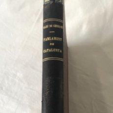 Libros antiguos: DIARI DE SESSIONS DEL PARLAMENT DE CATALUNYA, 1932. 12 NÚMEROS LLUÍS COMPANYS.. Lote 251959800