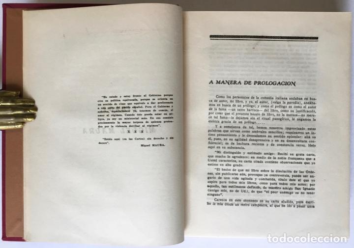 Libros antiguos: MIGUEL MAURA Y LA DISOLUCIÓN DE LAS ÓRDENES RELIGIOSAS EN LA CONSTITUCIÓN ESPAÑOLA. - SOLANA Y GUTIÉ - Foto 4 - 123249215