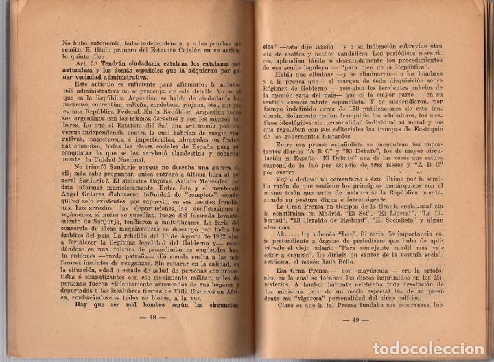 Libros antiguos: EL ENSAYO SOCIALISTA EN LA REPUBLICA ESPAÑOLA. FELIX RANGIL ALONSO. BUENOS AIRES, 1934 - Foto 3 - 259227925