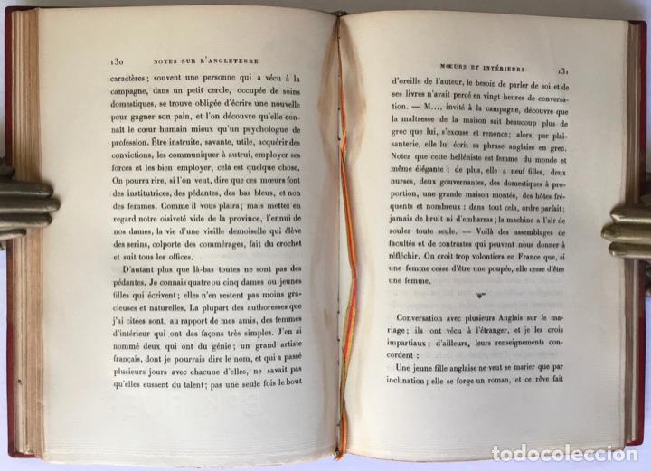 Libros antiguos: NOTES SUR LANGLETERRE. - TAINE, Hippolyte. - Foto 6 - 260816095