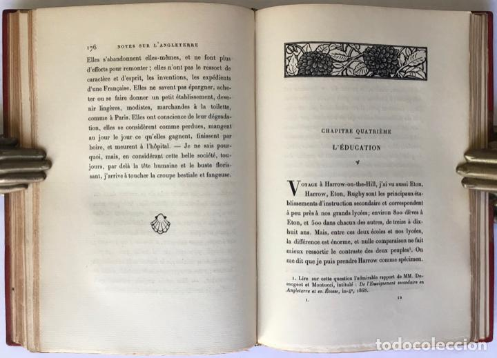 Libros antiguos: NOTES SUR LANGLETERRE. - TAINE, Hippolyte. - Foto 7 - 260816095