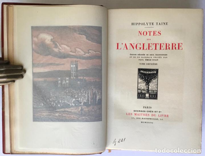 Libros antiguos: NOTES SUR LANGLETERRE. - TAINE, Hippolyte. - Foto 9 - 260816095