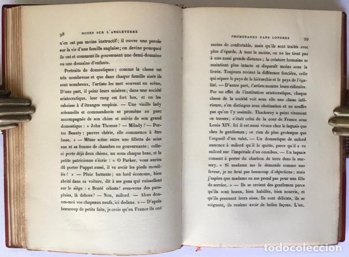 Libros antiguos: NOTES SUR LANGLETERRE. - TAINE, Hippolyte. - Foto 10 - 260816095
