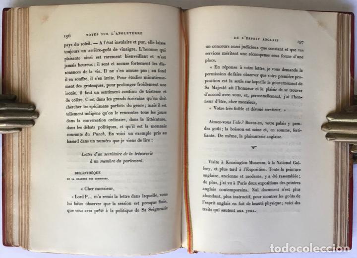 Libros antiguos: NOTES SUR LANGLETERRE. - TAINE, Hippolyte. - Foto 11 - 260816095