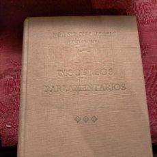 Libros antiguos: DISCURSOS PARLAMENTARIOS DEL CONGRESO DE LOS DIPUTADOS DE CATALUÑA POR ALFONSO SALA ARGEMÍ 1927. Lote 261638650