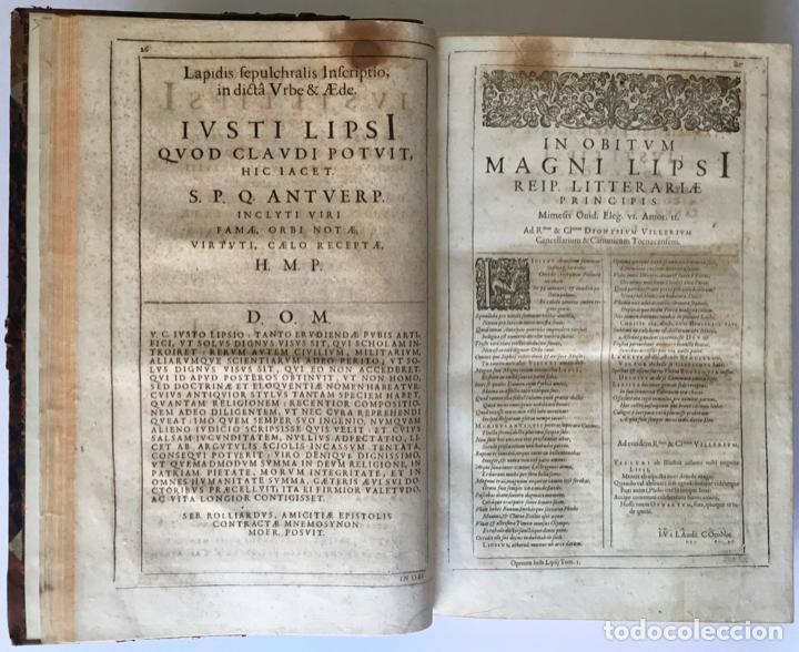 Libros antiguos: IUSTI LIPSI OPERA, QUAE VELUT IN PARTES ANTÈ SPARSA, NUNC IN CERTAS CLASSES DIGESTA... - LIPSIUS, J. - Foto 5 - 262184660