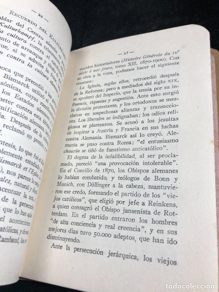 Libros antiguos: Alemania en Bélgica a la luz de las doctrinas de la Iglesia 1915 Carta Emilio Prüm Matías Erzberger - Foto 4 - 267130334