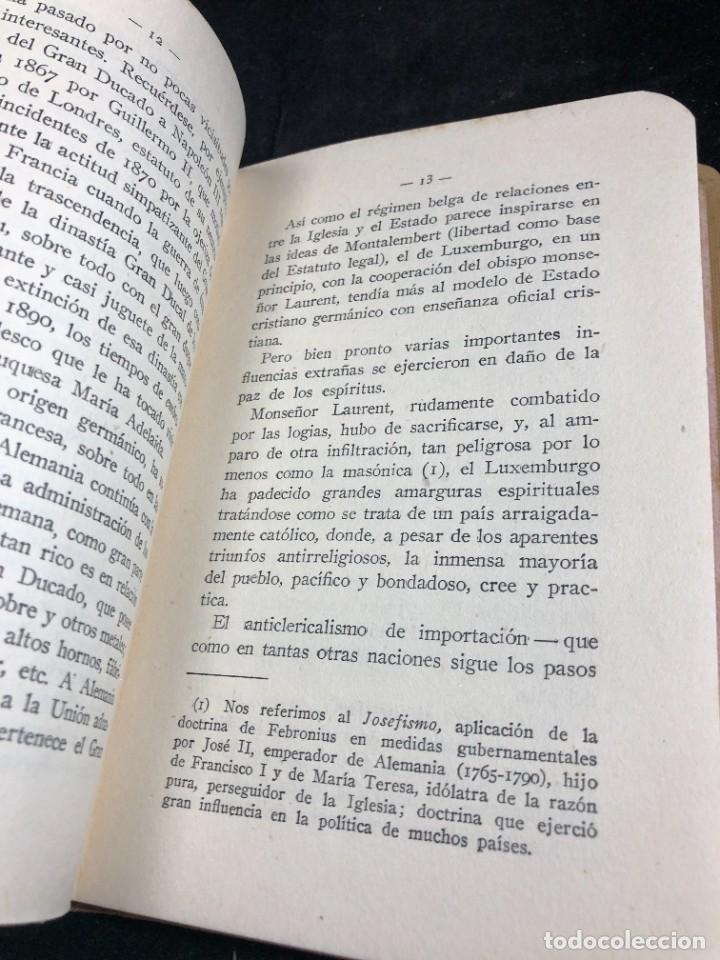 Libros antiguos: Alemania en Bélgica a la luz de las doctrinas de la Iglesia 1915 Carta Emilio Prüm Matías Erzberger - Foto 7 - 267130334