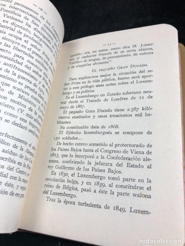 Libros antiguos: Alemania en Bélgica a la luz de las doctrinas de la Iglesia 1915 Carta Emilio Prüm Matías Erzberger - Foto 8 - 267130334