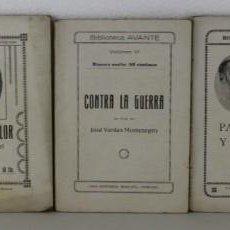 Libros antiguos: 5 NÚMEROS DE LA BIBLIOTECA AVANTE, CASA EDITORIAL MONCLÚS TORTOSA. VARIOS AUTORES. DÉCADA 1910. Lote 270695053