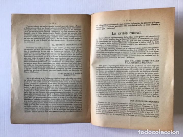 Libros antiguos: CURSO DE CONFERENCIAS SOCIALES ORGANIZADO POR EL DEBATE. Sexta conferencia pronunciada en el Teatro - Foto 3 - 123170163