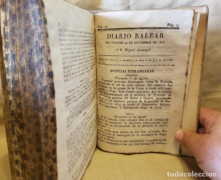 Libros antiguos: DIARIO BALEAR TERCER TRIMESTRE 1826 - SABADDO 1 DE JULIO 1826 AL VIERNES 19 SETIEMBRE 1826 - Foto 5 - 276581593