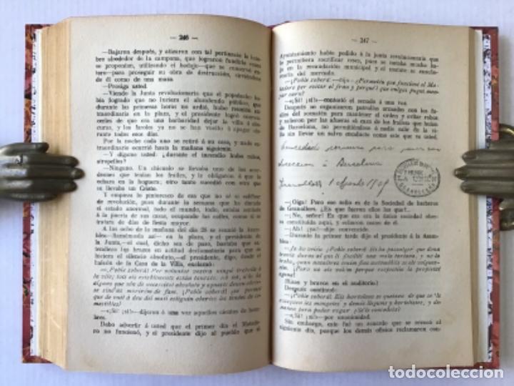 Libros antiguos: LA SEMANA TRÁGICA. Relato de la sedición é incendios en Barcelona y Cataluña. - RIERA, Augusto. - Foto 6 - 123237486