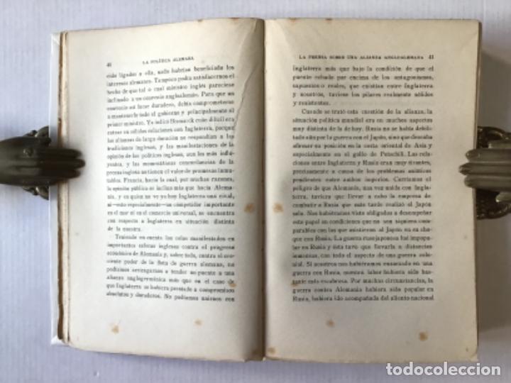 Libros antiguos: LA POLÍTICA ALEMANA. - BÜLOW, Príncipe de. - Foto 3 - 123168612