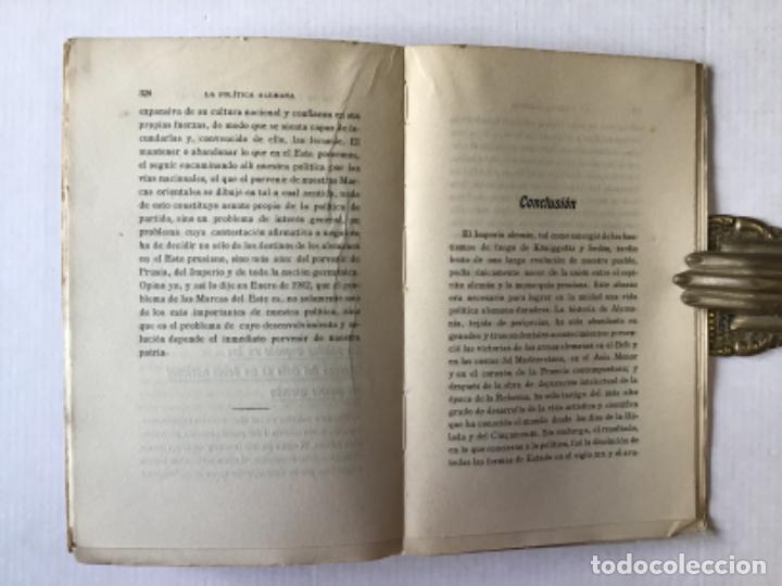 Libros antiguos: LA POLÍTICA ALEMANA. - BÜLOW, Príncipe de. - Foto 4 - 123168612