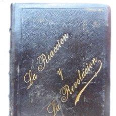 Libri antichi: L-6050. LA REACCIÓN Y LA REVOLUCIÓN. ESTUDIOS POLITICOS Y SOCIALES. FRANCISCO PI Y MARGALL. 1854.. Lote 279505238
