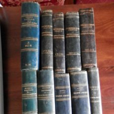 Libros antiguos: GRAN LOTE 10 LIBROS DERECHO ADMINISTRACIÓN LOMO PIEL SIGLO XIX - VER TODOS 52 CENTÍMETROS LOMO. Lote 280378823