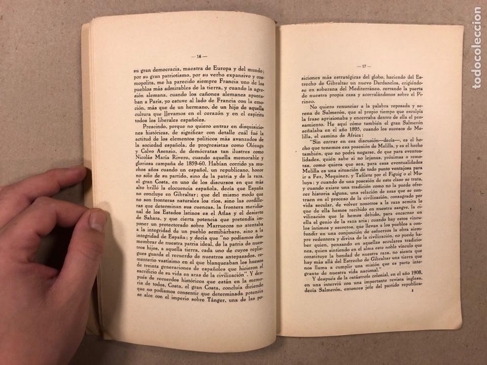 Libros antiguos: TÁNGER HA DE SER ESPAÑOL. LA OPINIÓN DE ESPAÑA. EDITORIAL IBERO AFRICANO AMERICANA. - Foto 4 - 283026393