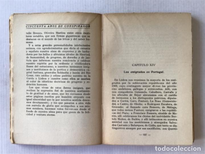 Libros antiguos: CINCUENTA AÑOS DE CONSPIRADOR. Memorias político-revolucionarias. 1853-1903. - RISPA PERPIÑÁ, Franci - Foto 4 - 123237774