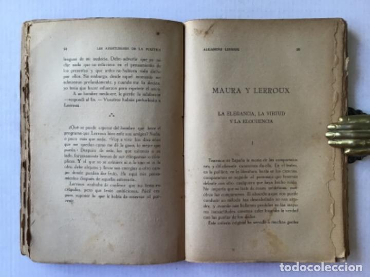 Libros antiguos: LOS AVENTUREROS DE LA POLÍTICA. ALEJANDRO LERROUX. (Apuntes para la historia de un revolucionario.) - Foto 4 - 123238774