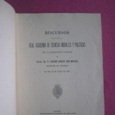 Libros antiguos: DISCURSO REAL ACADEMIA GARCIA SAN MIGUEL MARQUES DE TEVERGA ASTURIAS 1907 L17. Lote 287922673