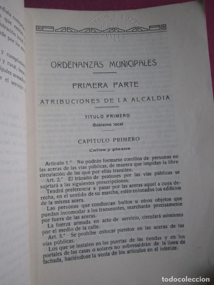Libros antiguos: ORDENANZAS MUNICIPALES DE LA VILLA DE AVILES Y SU TERMINO ASTURIAS CON EXLIBRIS 1922 L4C1 - Foto 3 - 287936473