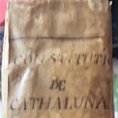 Libros antiguos: CONSTITUÇIONS Y ALTRES DRETS DE CATHALUNYA 1704 (CONSTITUCIONES Y OTROS DRECHOS DE CATALUÑA). Lote 295272558