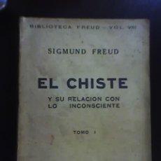 Libros antiguos: EL CHISTE Y SU RELACION CON LO INCONSCIENTE, POR S. FREUD - EDICIONES ERCILLA - CHILE - 1936. Lote 19481648