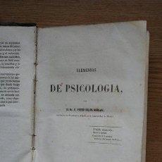 Libros antiguos: CURSO DE PSICOLOGÍA Y LÓGICA, PARA USO DE LOS INSTITUTOS Y COLEGIOS DE SEGUNDA ENSEÑANZA.. Lote 27414229