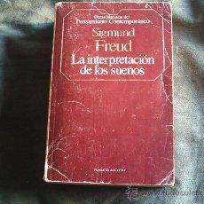Libros antiguos: LA INTERPRETACION DE LOS SUEÑOS. Lote 31486309