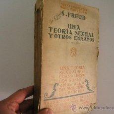 Libros antiguos: OBRAS COMPLETAS II SIGMUND FREUD,1929, BIBLIOTECA NUEVA ED, REF HISTORIA RR42. Lote 31905665