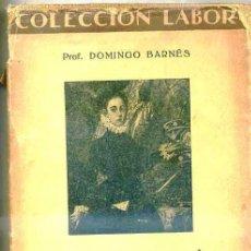 Libros antiguos: BARNÉS : LA EDUCACIÓN EN LA ADOLESCENCIA (LABOR, 1930) . Lote 32309508