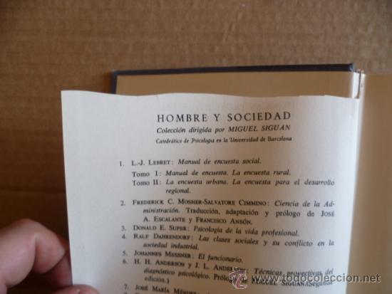 Libros antiguos: TECNICAS PROYECTIVAS DEL DIAGNOSTICO PSICOLOGICO ( ANDERSON) SEGUNDA EDICION - Foto 3 - 33005505
