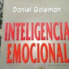 Libros antiguos: LIBRO INTELIGENCIA EMOCIONAL DANIEL GOLEMAN. Lote 33516731
