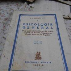 Libros antiguos: PSICOLOGIA ENGENERAL. Lote 34784715