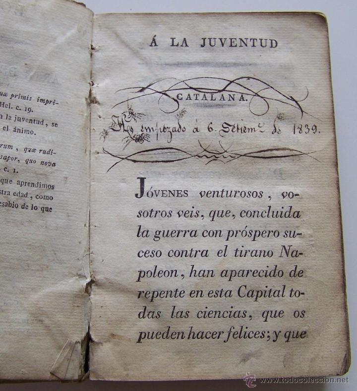 Libros antiguos: Barcelona Circa 1820 LOGICA Y ARTE DE BIEN HABLAR Por JOSEF PABLO BALLOT Barcelona - Foto 5 - 44900021