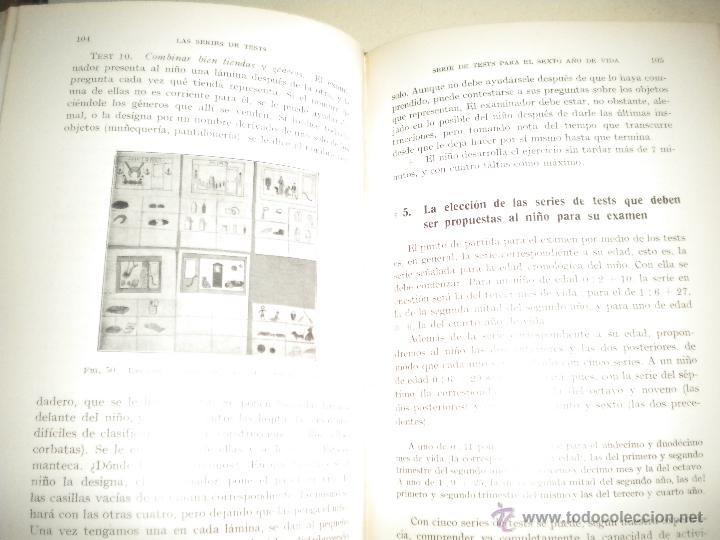 Libros antiguos: TESTS PARA LA PRIMERA INFANCIA - EDITORIAL LABOR 1.934 - Foto 6 - 47207062