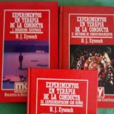 Libros antiguos: EXPERIMENTOS EN TERAPIA DE LA CONDUCTA 3 TOMOS DE H. J. EYSENCK. Lote 50417627